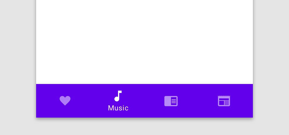 Material Design Bottom Menu