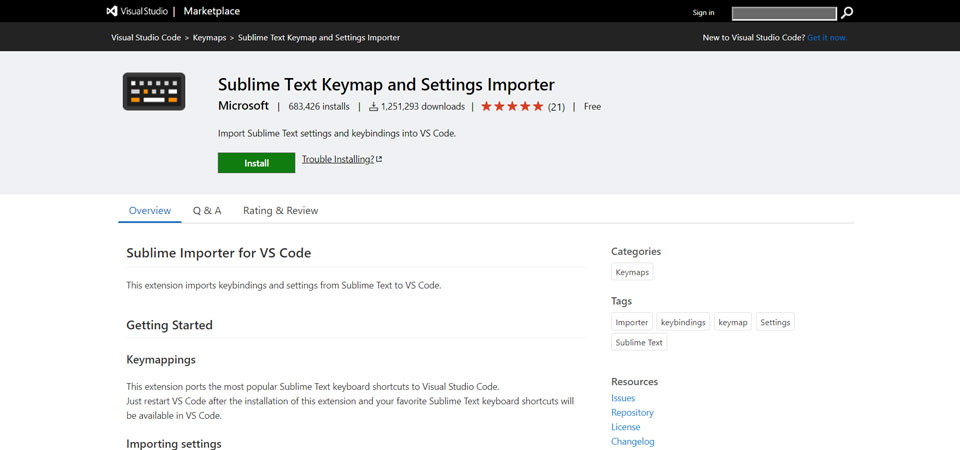 Sublime Text Keymap and Settings Importer