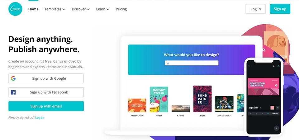 Canva Design tool for non Designers