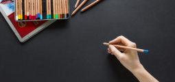 Non designer Person Using color on Dark background
