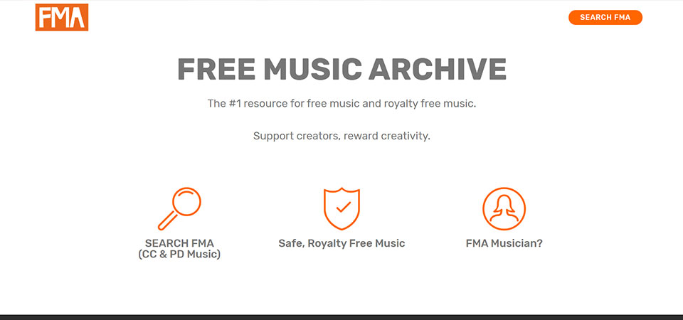FMA - Free Music Archive Site