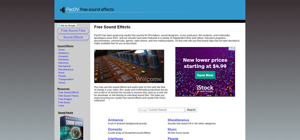 Pacdv Free Stock Audio