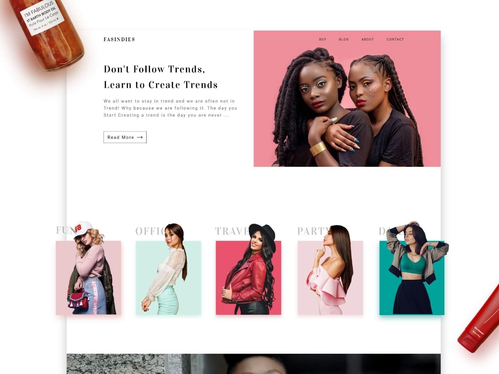 Fashion Blog interaction Design by Hiten Rajgor