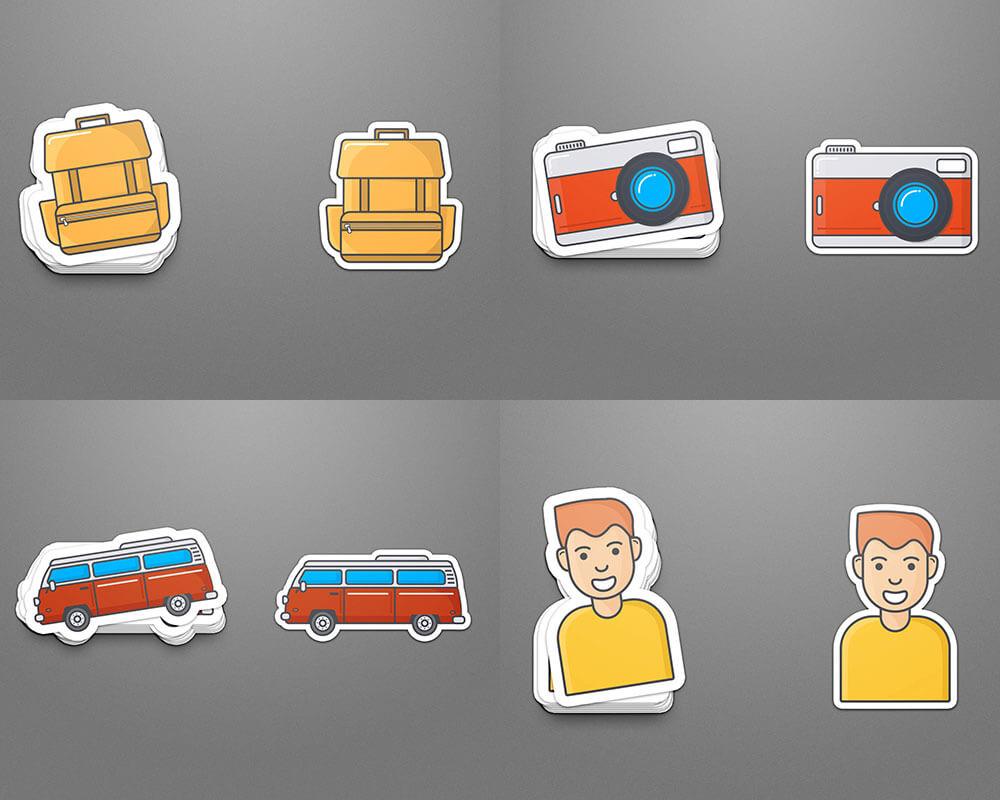 Travel Sticker Designs