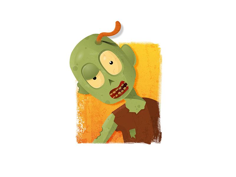 zombie illustration by Hiten