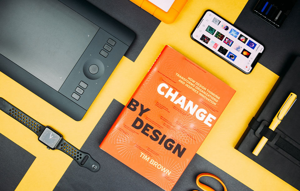 UI inspirations sites stylish cover of design book and pen tablet