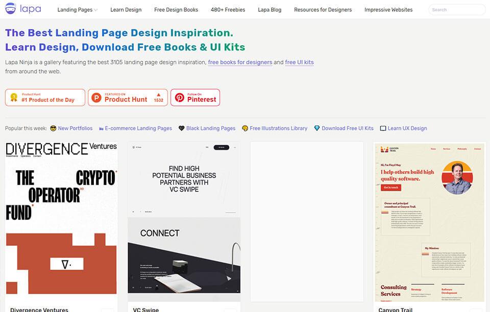 Lapa Ninja UI deisgn website