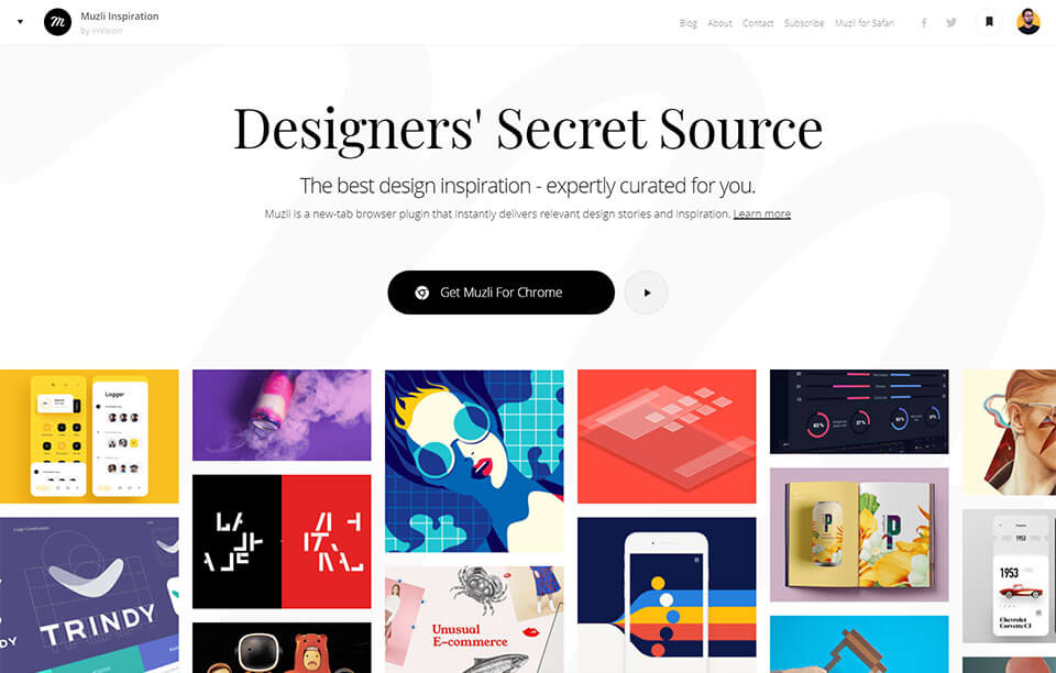 Muzli - Design inspiration secret