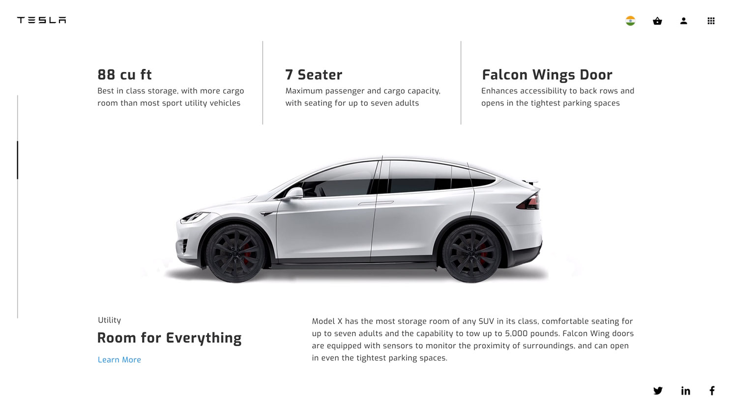 Tesla - Product page by Hiten Rajgor